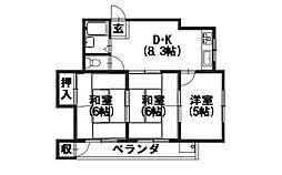 松岡マンション[3階]の間取り