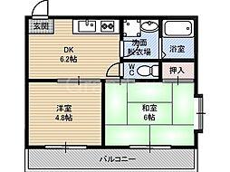 シティーコート今津[2階]の間取り