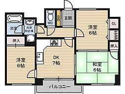 グラントピア新大阪[10階]の間取り