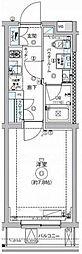 東急大井町線 自由が丘駅 徒歩15分の賃貸マンション 4階1Kの間取り