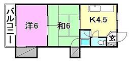 エトワール松山[202 号室号室]の間取り