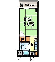八坂ハイツ[304号室]の間取り