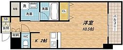 大阪府大阪市中央区上本町西3丁目の賃貸マンションの間取り