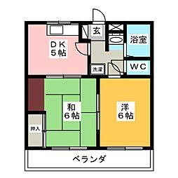 サンシャトーC[2階]の間取り