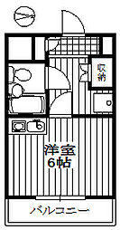 浮間宝マンション[206号室]の間取り