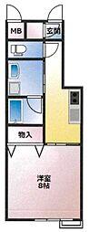 (仮)東古松4丁目マンション 3階1Kの間取り