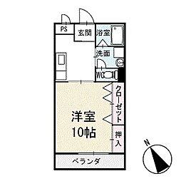 ユース稲熊[102号室]の間取り