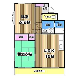 グリシーンツルマキ[2階]の間取り
