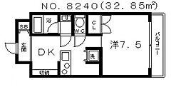 ジリオ大阪城南[302号室号室]の間取り