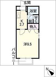サン・マツモト A棟[1階]の間取り