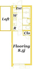 JR京浜東北・根岸線 本郷台駅 徒歩17分の賃貸アパート 1階1Kの間取り