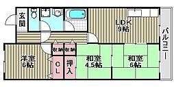 ナカタニMX2[B5号室]の間取り