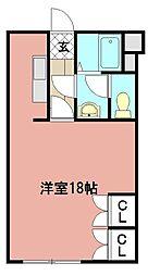 サンカープ花立花[205号室]の間取り