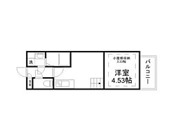 Osaka Metro谷町線 太子橋今市駅 徒歩1分の賃貸マンション 2階1DKの間取り