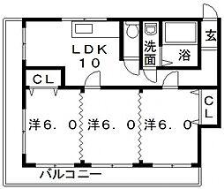 トミヤビル[604号室号室]の間取り