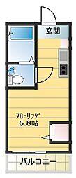 コートリーハウス横浜和田町[301号室]の間取り