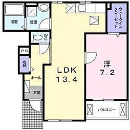 メゾン・ド・カルム1[2階]の間取り