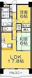 香川県高松市林町の賃貸マンションの間取り