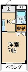 大阪府枚方市出口3丁目の賃貸マンションの間取り