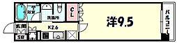 リーガル神戸三宮フラワーロード[6階]の間取り