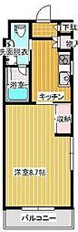 広島県呉市三条1丁目の賃貸マンションの間取り