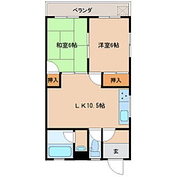 和歌山県和歌山市坂田の賃貸マンションの間取り