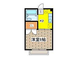 東京都府中市晴見町2丁目の賃貸マンションの間取り