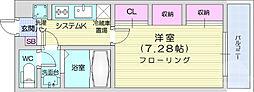 仙台市地下鉄東西線 連坊駅 徒歩7分の賃貸マンション 3階1Kの間取り