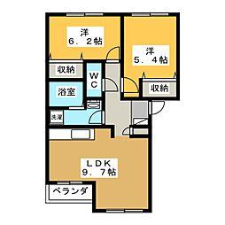 グランシャリオ大原[1階]の間取り