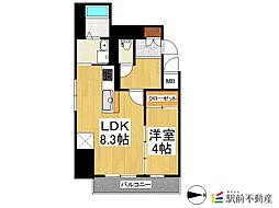 LEXUS GARDEN香椎駅前 5階1LDKの間取り