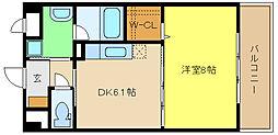 兵庫県姫路市二階町の賃貸マンションの間取り