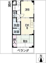 中央ヴィレッジS・H[2階]の間取り