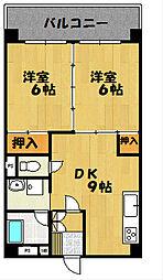 ハイツ内藤[3F号室]の間取り