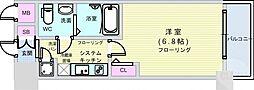 Osaka Metro千日前線 桜川駅 徒歩4分の賃貸マンション 6階1Kの間取り