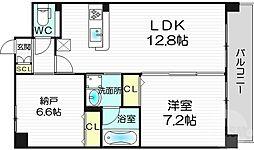 clavier西梅田 1階1SLDKの間取り
