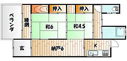 [一戸建] 福岡県北九州市若松区宮丸2丁目 の賃貸【福岡県 / 北九州市若松区】の間取り