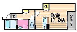 岡山県倉敷市日ノ出町2丁目の賃貸アパートの間取り