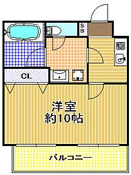 トーシンレジデンス此花[2階]の間取り