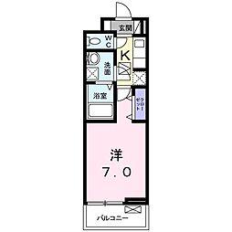 JR高徳線 栗林公園北口駅 徒歩10分の賃貸アパート 1階1Kの間取り