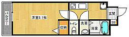 京都府京都市中京区西ノ京西中合町の賃貸マンションの間取り