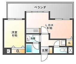 ピュアドームエスパルシア博多[9階]の間取り