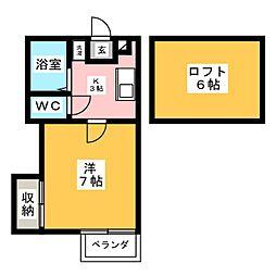 サザンクロス[2階]の間取り