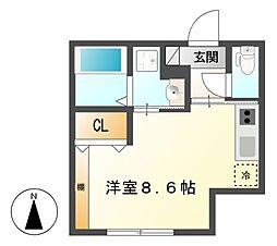Casa Avenue Kanayama[1階]の間取り
