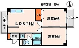 守口ASK八島マンション[3階]の間取り