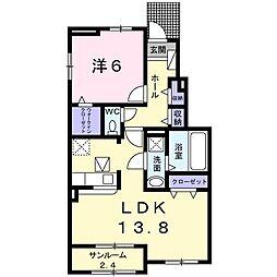 サニースクエアIII[0103号室]の間取り