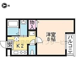 京都府京都市東山区南西海子町の賃貸マンションの間取り