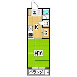 京栄マンション[6階]の間取り