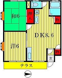 ガーデンハウス山勝[1階]の間取り