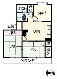 メゾン山田[3階]の間取り