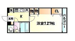 JR東北本線 南仙台駅 徒歩3分の賃貸マンション 3階1Kの間取り